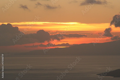 Keuken foto achterwand Oranje eclat Sunset