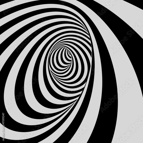 tunnel-black-and-white-abstract