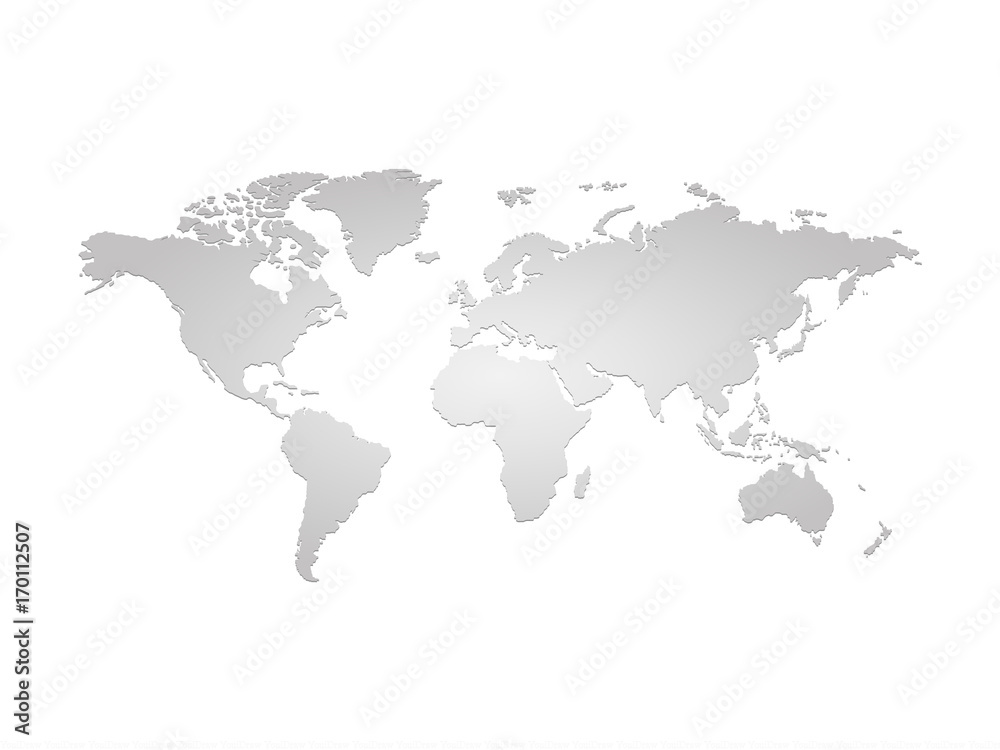 Fototapeta Szara mapa ziemi