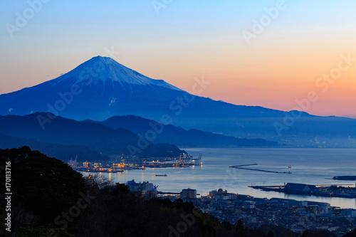 Fotografie, Obraz 日本平から望む朝焼けと富士山