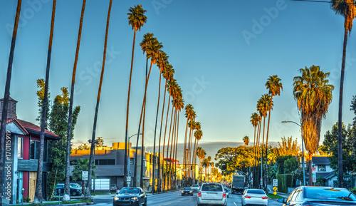 In de dag Los Angeles Sunset boulveard in the evening
