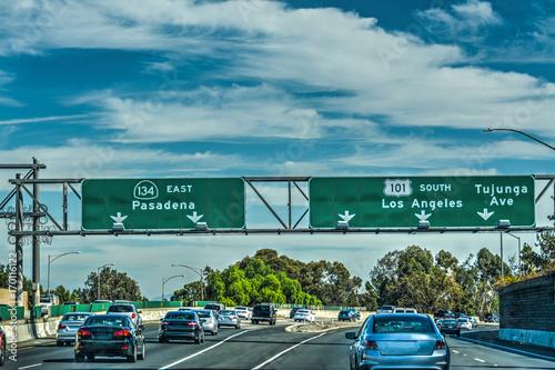 Poster Los Angeles Traffic in 101 freeway