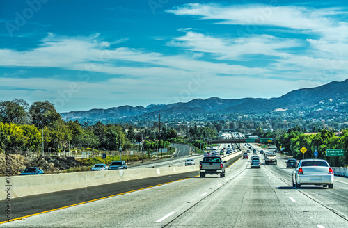 Photo  Traffic in 101 freeway southbound
