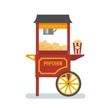 Popcorn Machine Flat Illustrat...