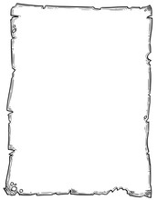 Cartoon Drawing Of Empty Background Scroll