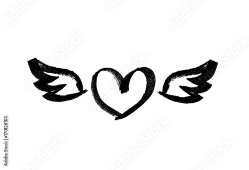 Fotografia  Heart with wings