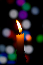 Candle And Blur Background