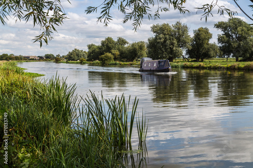 Printed kitchen splashbacks River Outskirts of Ely on the River Great Ouse