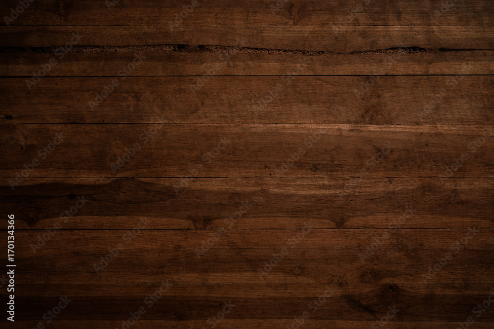 Fototapety, obrazy: Old grunge dark textured wooden background,The surface of the old brown wood texture