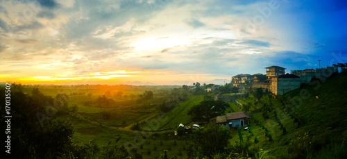 Fototapety, obrazy: Sunset at Tagaytay, Philippines