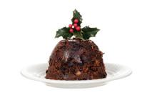 Isolated Christmas Brandy Pudd...