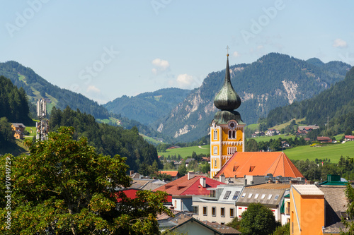 Edifice religieux Roman Catholic Church in Schladming city center, Austria