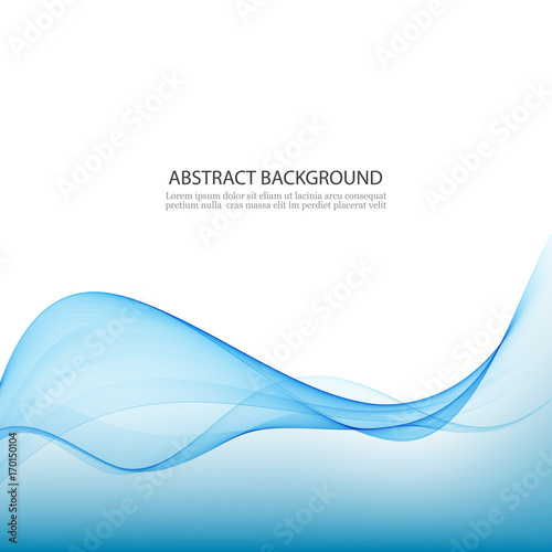Photo  Blue abstract waves background