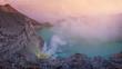 Sunrise at Kawah Ijen, panoramic view