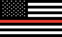 Thin Red Line Firefighter Flag...