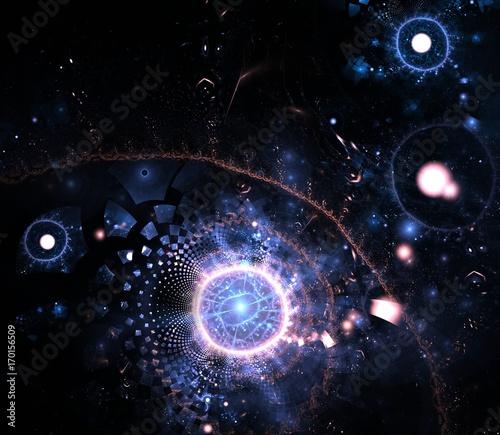 Plakat Abstrakcjonistyczny fractal tło dla kreatywnie projekta