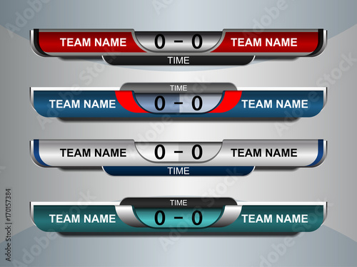 scoreboard broadcast graphic and lower thirds template for soccer