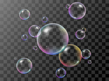 Realistic 3d Soap Bubbles Set ...