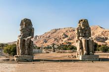 Colossi Of Memnon Located In Luxor, Egypt