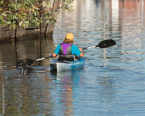 Fototapeta kayak on puget sound
