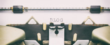 Blog Word In Capital Letters O...