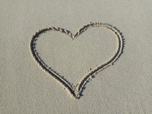 Heart Icon On Sand
