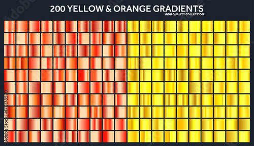 Yellow Orange Chrome Grant Set Pattern Template Sun Fruits Colors For