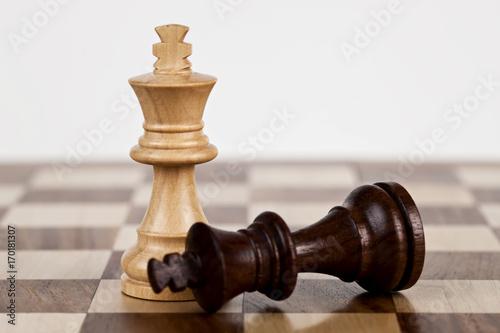 Cuadros en Lienzo Chess: King Down