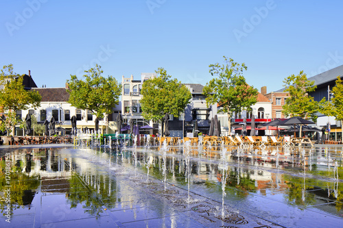 Fényképezés  Hill square on a summer day, Tilburg, The Netherlands