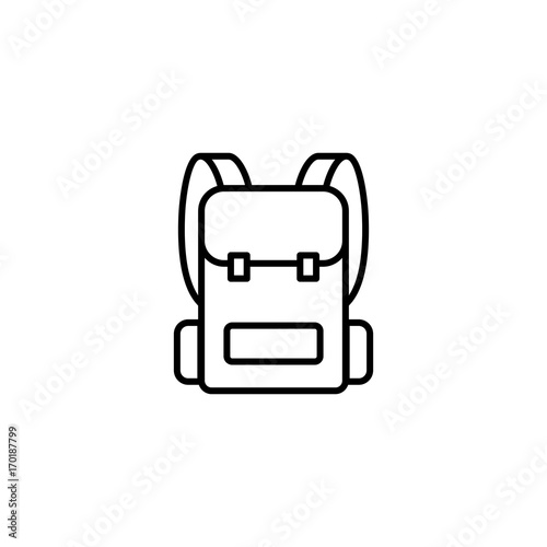 Fototapeta backpack icon on white background obraz