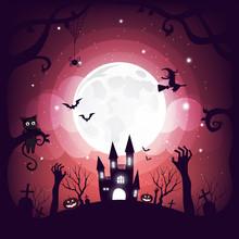 Halloween Element Design On Fu...