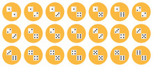 Pairs Of White Dices Vector Fl...