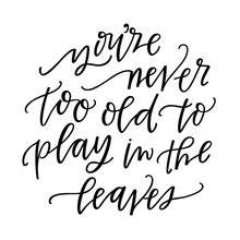 You're Never Too Old To Play I...