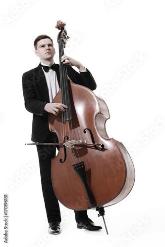 Fototapeta Kontrabasista grający kontrabas