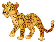 Cartoon Leopard Walking