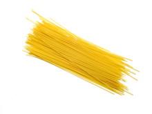 Spaghetti Yellow Pasta Macaroni Isolated On White Background