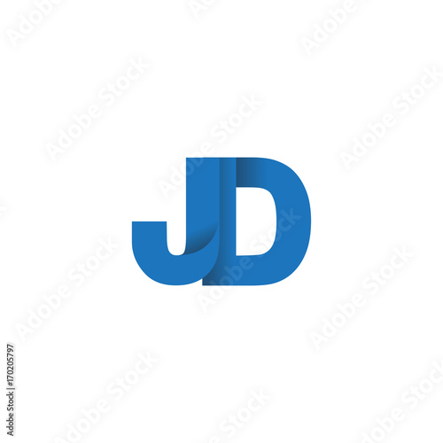 initial letter logo jd overlapping fold logo blue color buy this stock vector and explore similar vectors at adobe stock adobe stock adobe stock