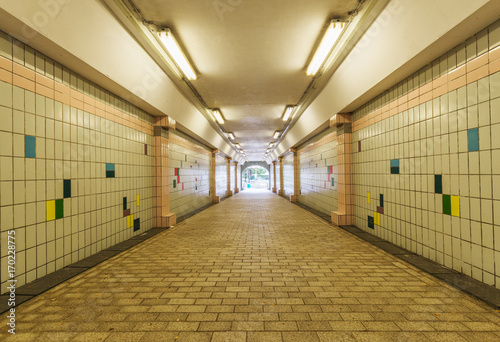 Foto op Canvas Stadion Tunnel of underground crossing at Fort Canning Park, Singapore