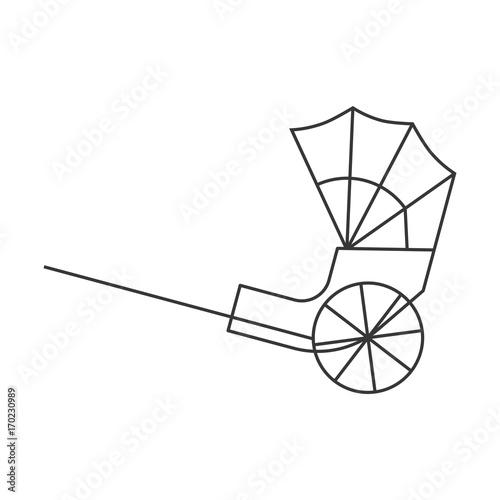 Fotografija  Hong kong rickshaw icon, outline design