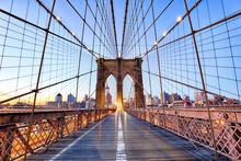 New York, Brooklyn Bridge At N...