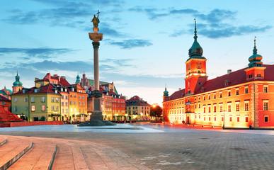 Fototapeta Panorama of Warsaw old town, Poland