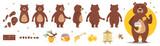 Fototapeta Fototapety na ścianę do pokoju dziecięcego - bear character for animation