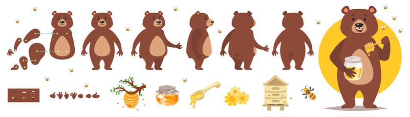 bear character for animation