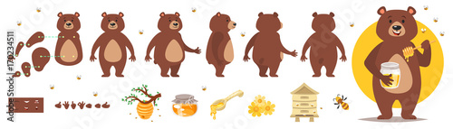 Photo  bear character for animation