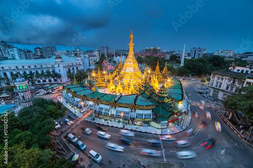 Fotografie, Obraz  Sule pagoda in Yangon, Myanmar