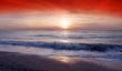 canvas print picture Lever de soleil sur plage