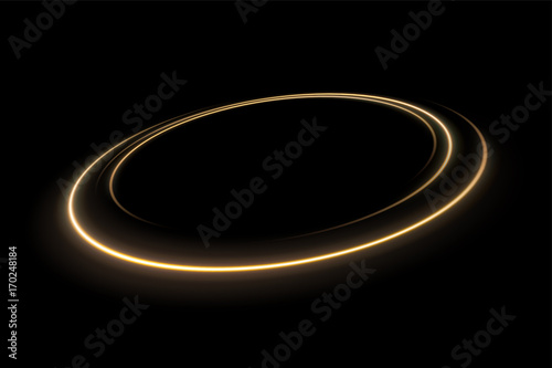 Photo  ound yellow light twisted, Suitable for product advertising, product design, and other