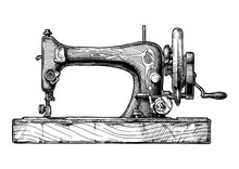 Illustration Of Sewing Machine