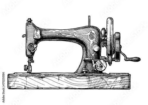 Obraz na plátne illustration of sewing machine