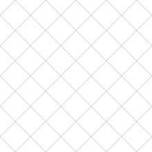 Black Dash Square Diamond Seamless On White Background. Vector Illustration